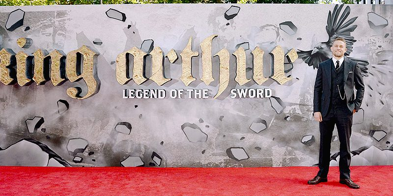 Charlie Attends European Premiere of 'King Arthur: Legend of the Sword'