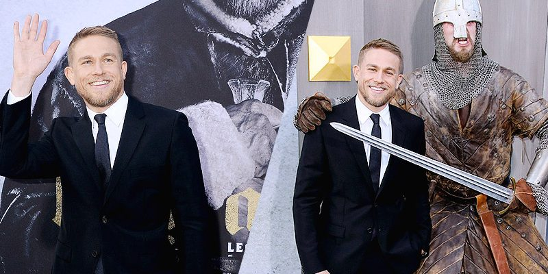 Charlie Attends Los Angeles Premiere of 'King Arthur: Legend of the Sword'