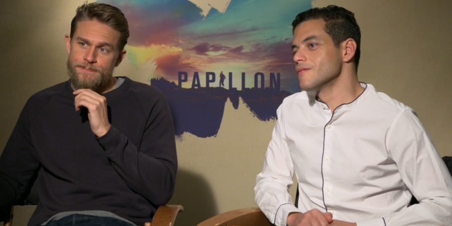 Video: Inside Charlie Hunnam and Rami Malek's 'Brutal' Experience Filming Nude Shower Fight in 'Papillon'
